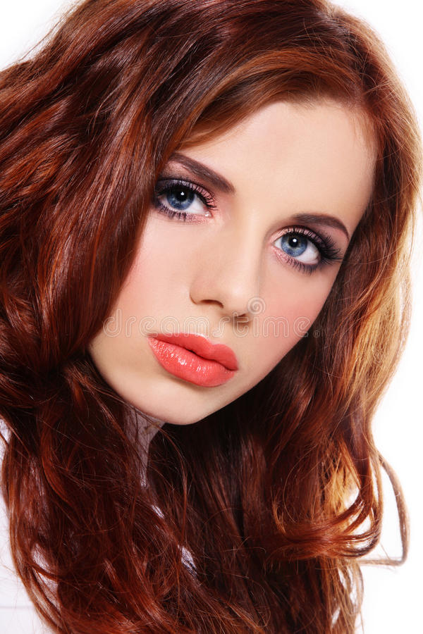 Beautiful redhead royalty free stock photography