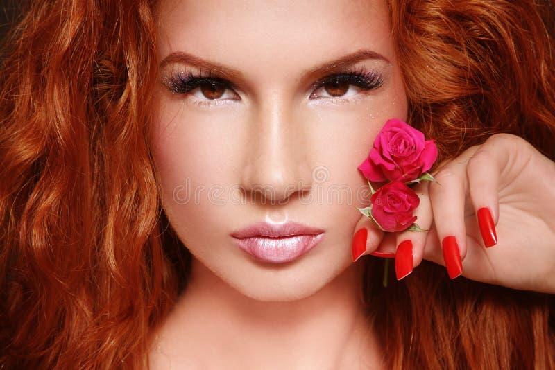 Beautiful redhead royalty free stock image