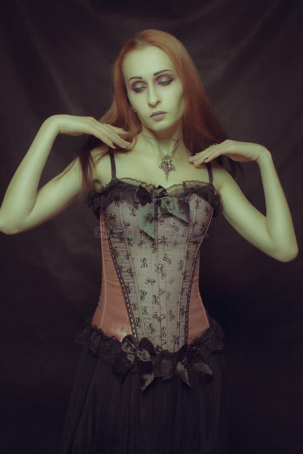 Beautiful redhead girl royalty free stock photo