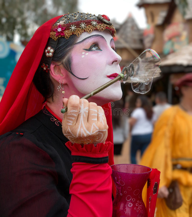 Beautiful Renaissance Festival Performer royalty free stock photos