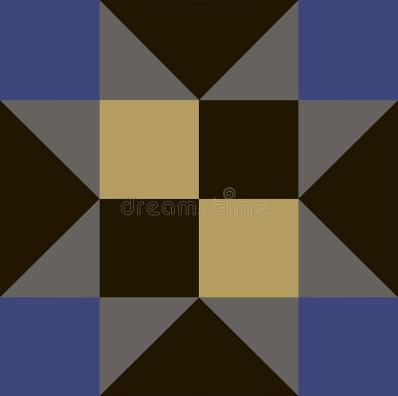 Beautiful repeating background of square and triangle stock illustration