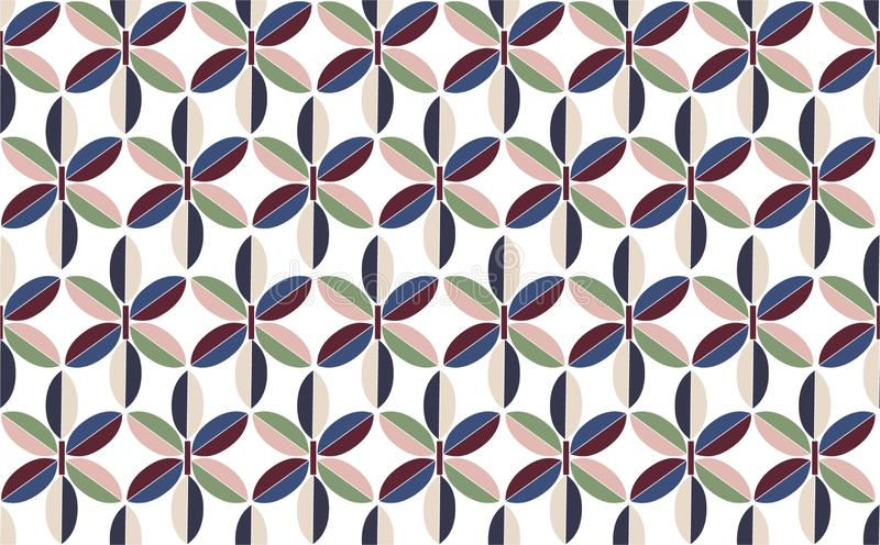 Beautiful Rero geometric flower shape seamless pattern vector, repeating ,Design for fashion ,fabric, web,wallpaper,wrapping ,tile vector illustration