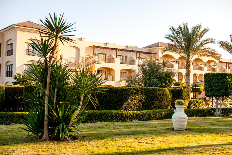 Beautiful resort hotel royalty free stock photography