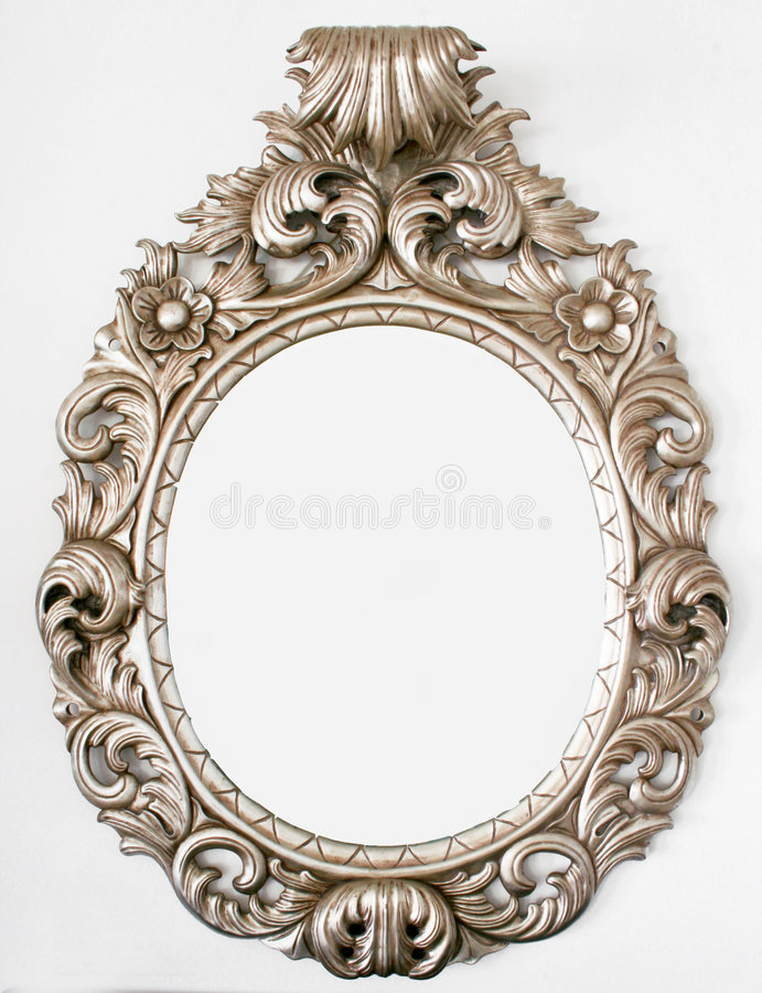 Beautiful Retro baroque mirror royalty free stock image