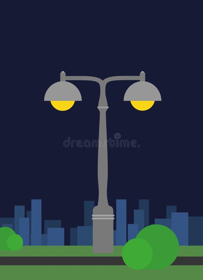 Beautiful retro industrial street night lamp stock photos