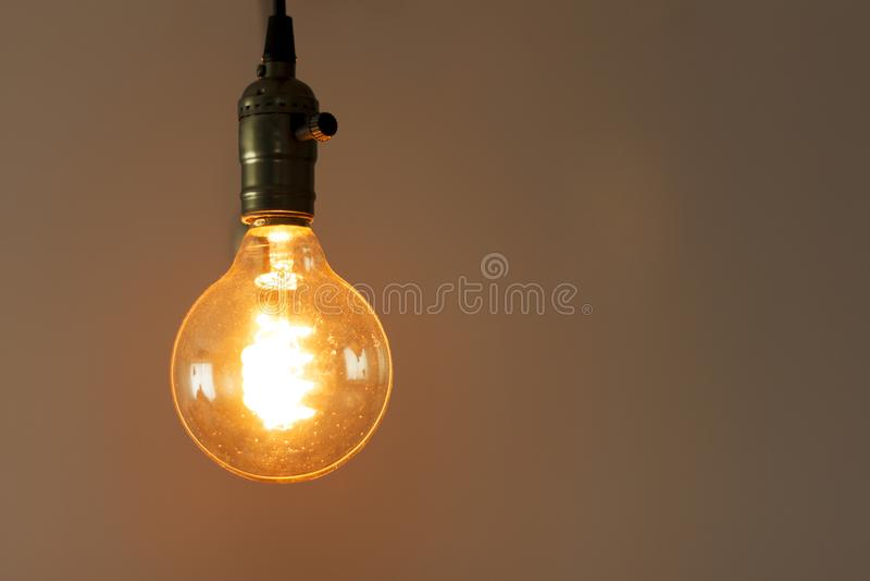 Beautiful retro luxury interior bulb lighting lamp royalty free stock photo