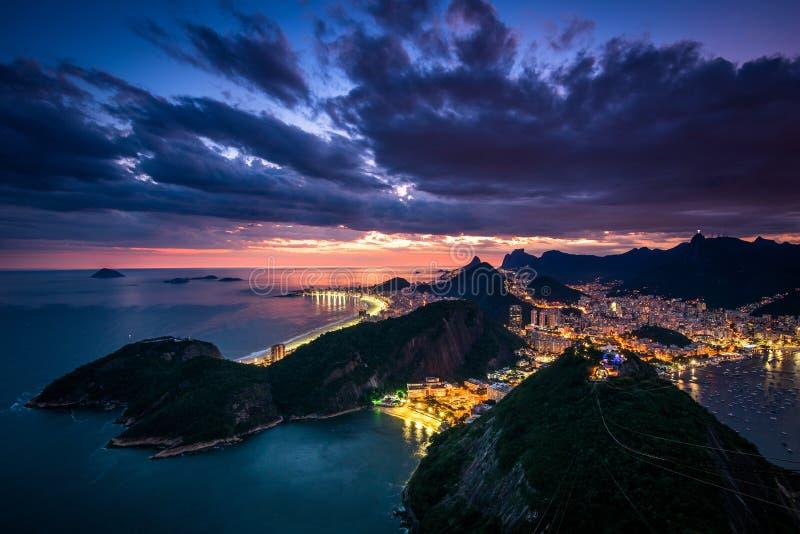 Beautiful Rio de Janeiro Sunset stock photography