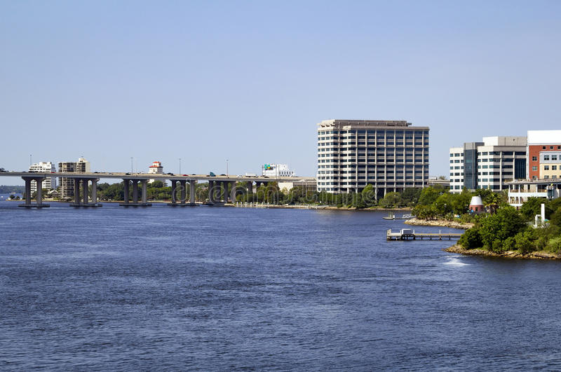 Beautiful Riverside, as seen from downtown Jacksonville stock photography