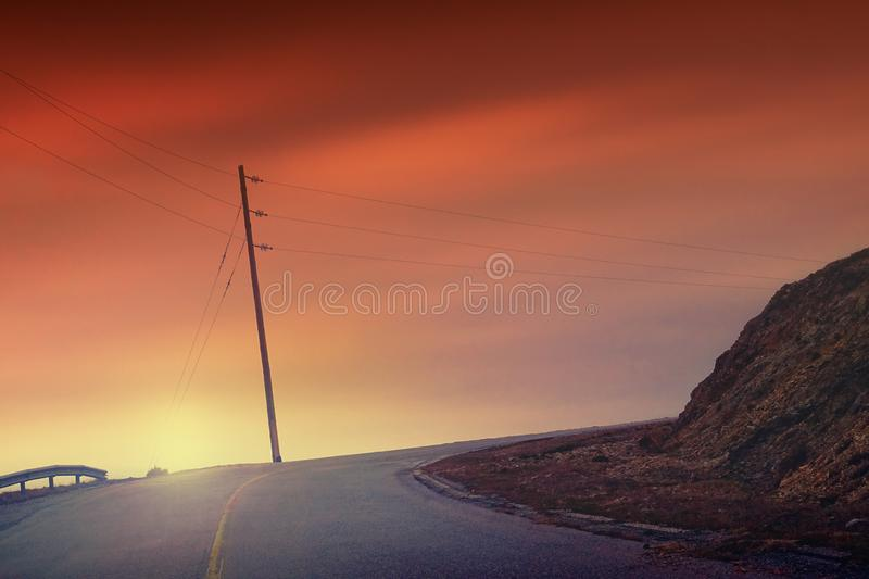 A beautiful road to nowhere royalty free stock image