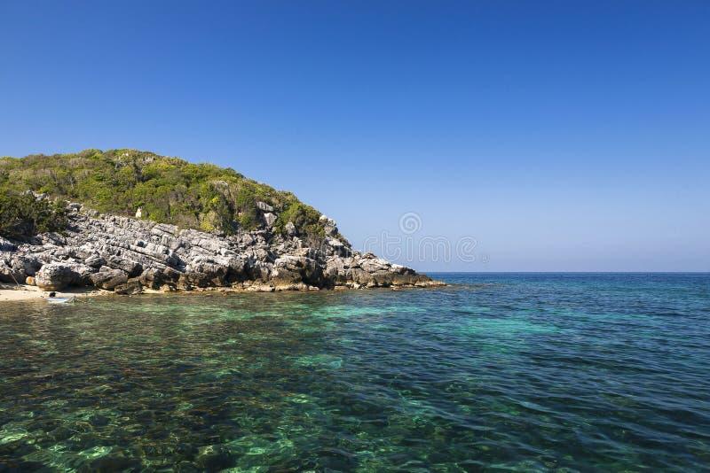 Beautiful rocks Island in Ang Thong National Park stock photography
