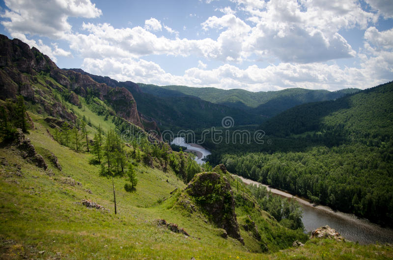 Beautiful rocks in Khakassia stock photo