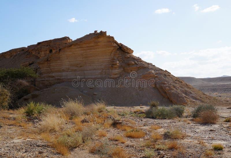 Rocks view in Arava desert royalty free stock photos