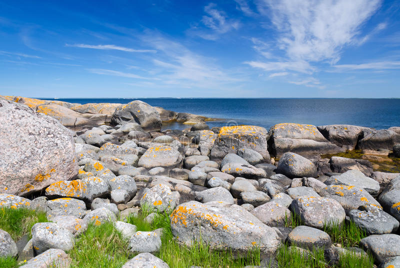 Beautiful Rocky Coast Stock Photography