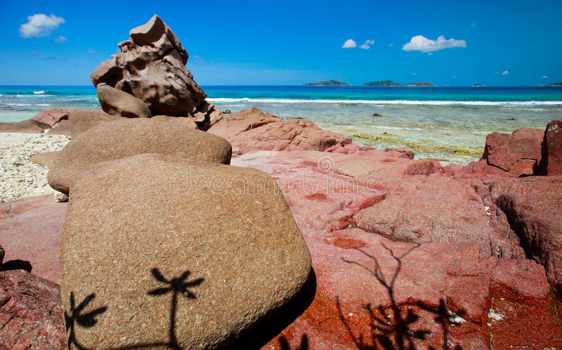 Download Beautiful Rocky Coast In Seychelles Stock Image - Image of nature, sunny: 17865471