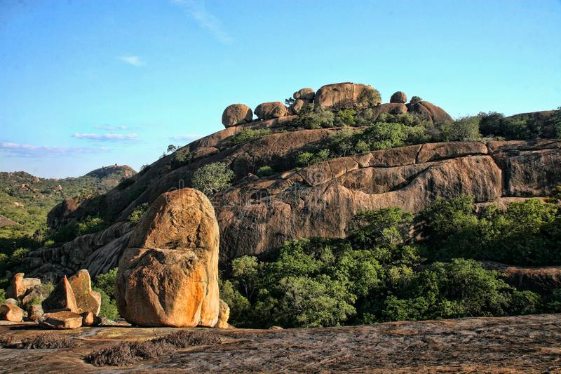 Beautiful rocky formations of Matopos National Park, Zimbabwe. The Beautiful rocky formations of Matopos National Park, Zimbabwe stock photo