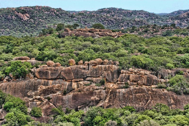 Beautiful rocky formations of Matopos National Park, Zimbabwe. The Beautiful rocky formations of Matopos National Park, Zimbabwe royalty free stock photo