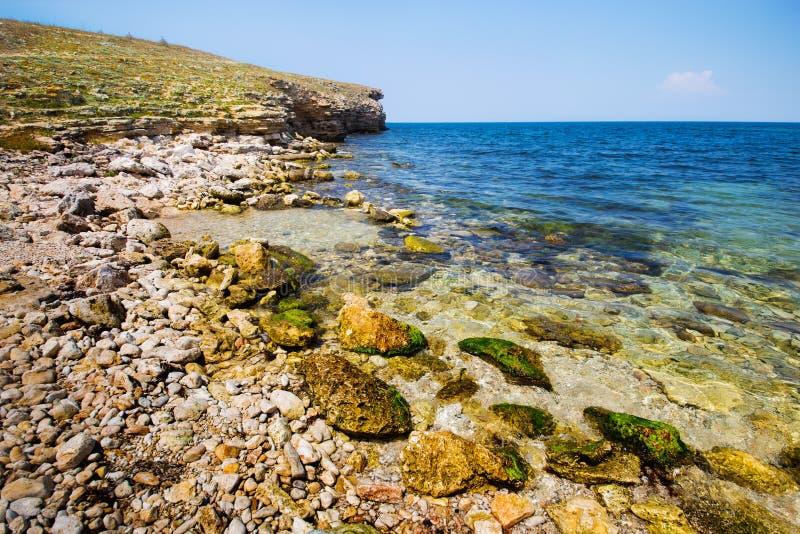 Beautiful rocky sea coast stock photos