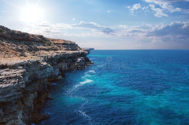 Beautiful rocky sea coast royalty free stock photography
