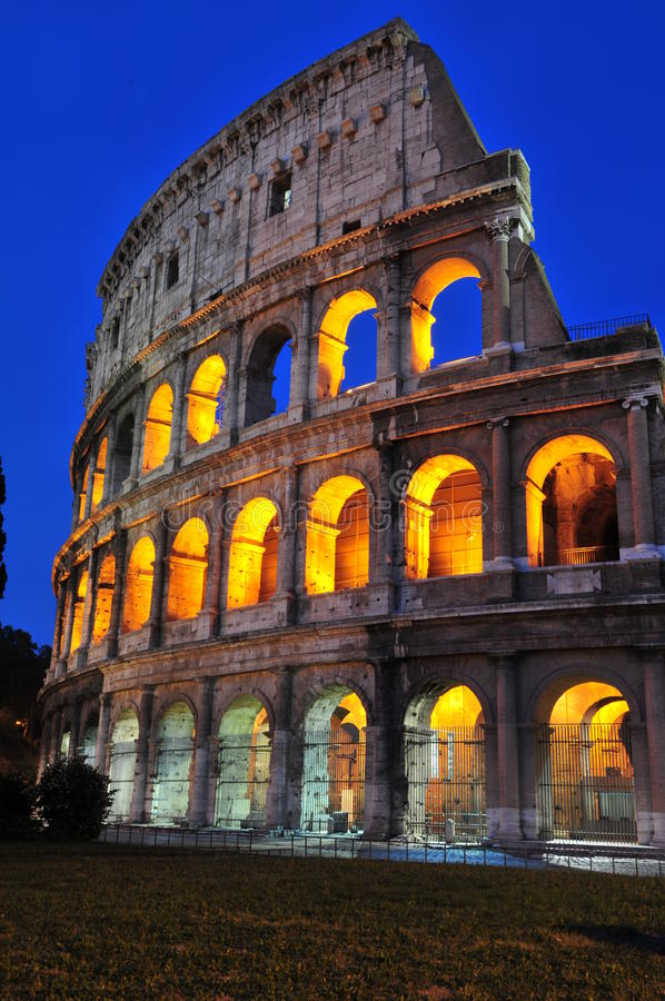 Beautiful roman nights royalty free stock photo
