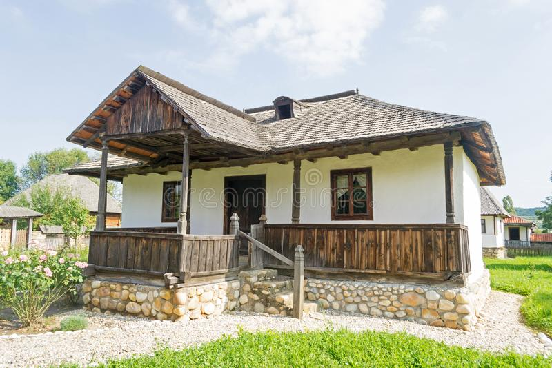 Romanian traditional house stock photos