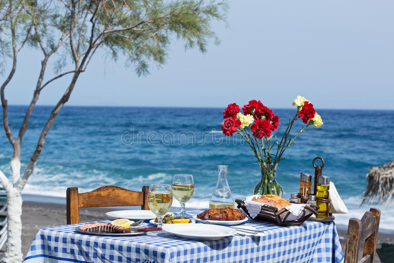 Beautiful romantic table stock image