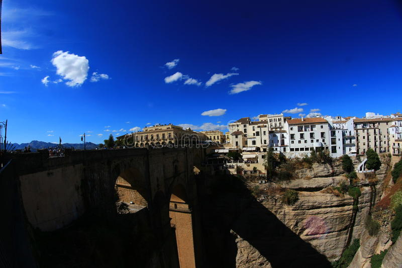 Beautiful Ronda. In Andalucia, Spain. It´s famous for it´s huge bridge stock image