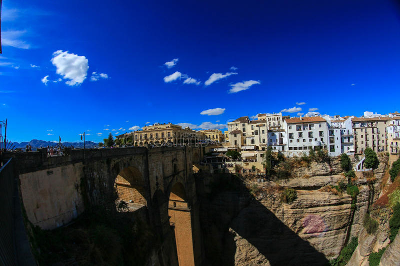 Beautiful Ronda. In Andalucia, Spain. It´s famous for it´s huge bridge stock photography