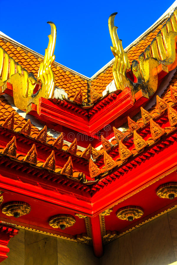 Beautiful roof of temple. In Thailland royalty free stock image