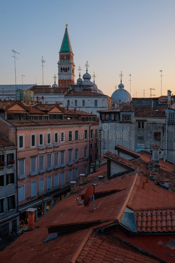 Beautiful roof top view of cathedral of San Marco, Venice, Italia. stock image