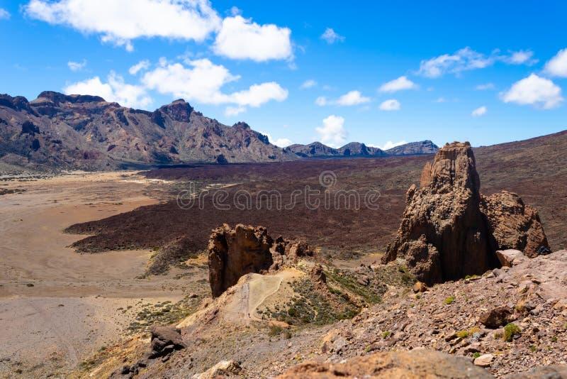 Beautiful Roques de Garcia κοντά στο ηφαίστειο Teide, Tenerife, Κανάρια νησιά, Ισπανία - ει στοκ εικόνα με δικαίωμα ελεύθερης χρήσης