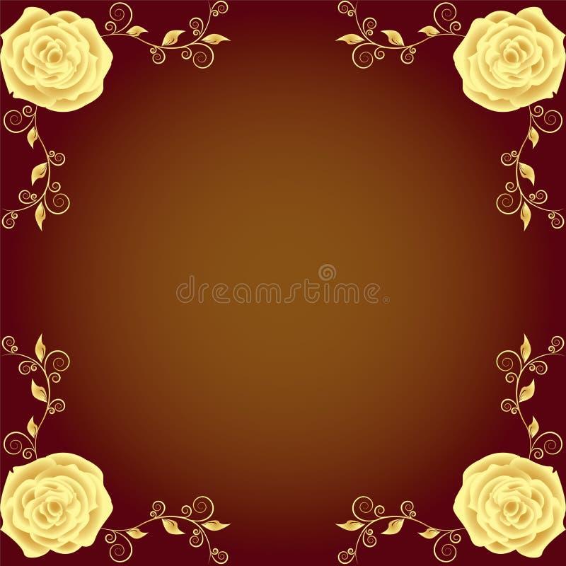 Beautiful roses borders royalty free illustration