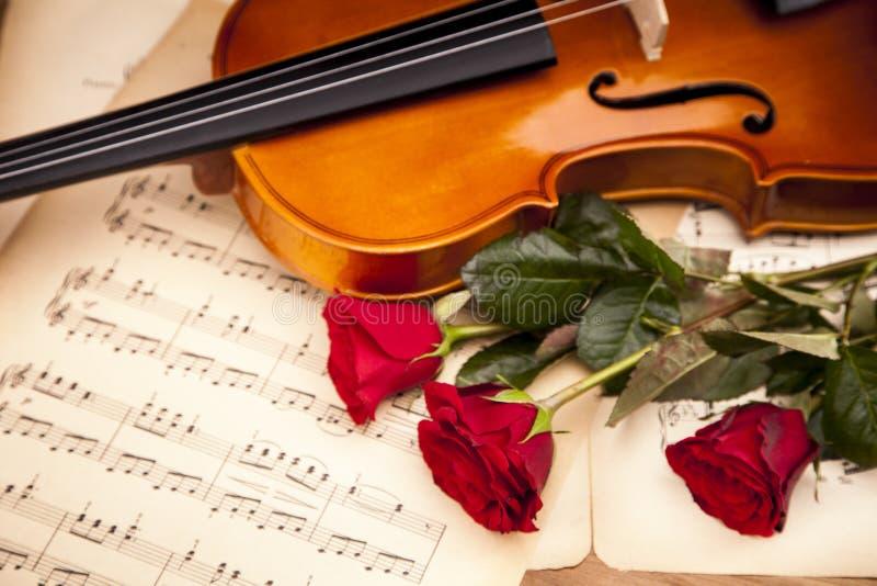 Download Beautiful Roses And Violin! Royalty Free Stock Photos - Image: 27600938
