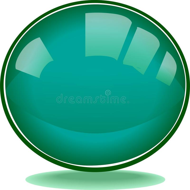 Beautiful Round green  web button vector illustration