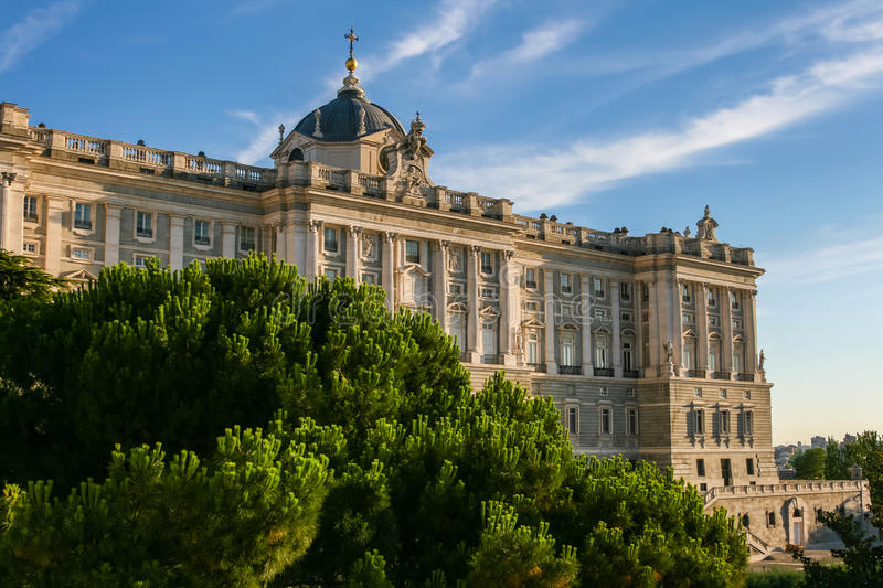 Download Beautiful Royal Palace Of Madrid In Spain Stock Image - Image of historic, clouds: 30997743