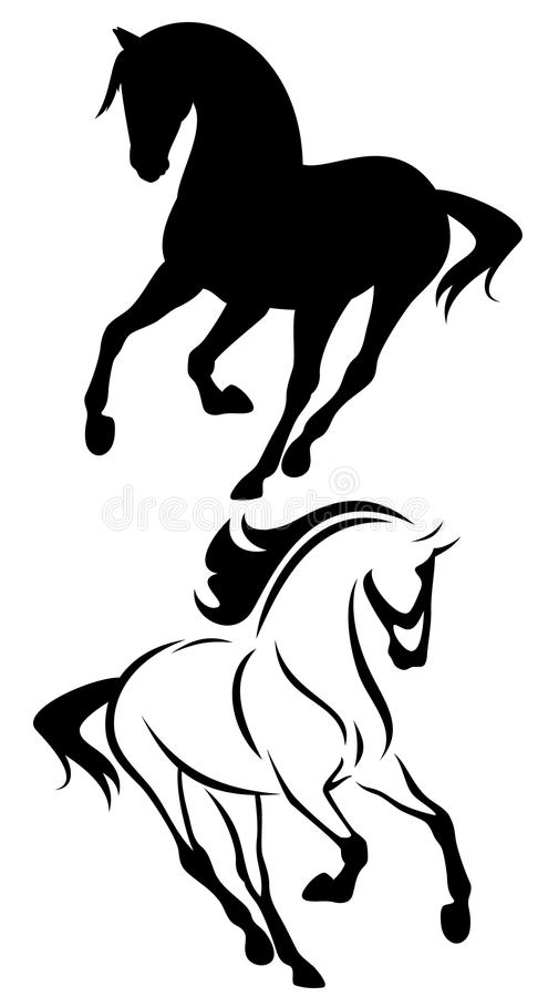 Running horse vector stock vector. Illustration of front ... - photo#25