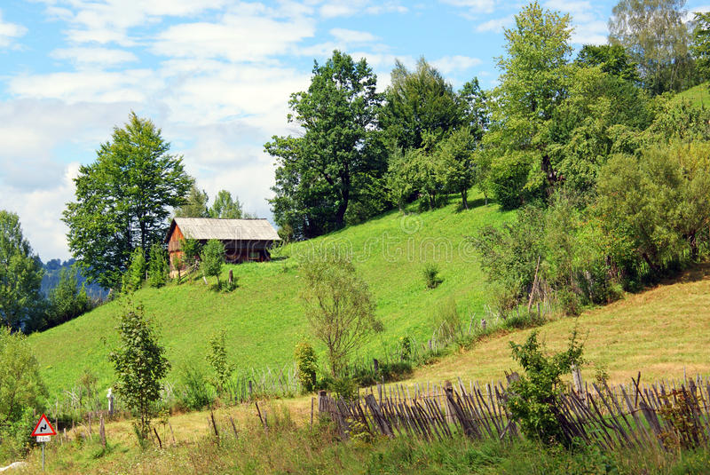 Beautiful rural hill landscape royalty free stock images