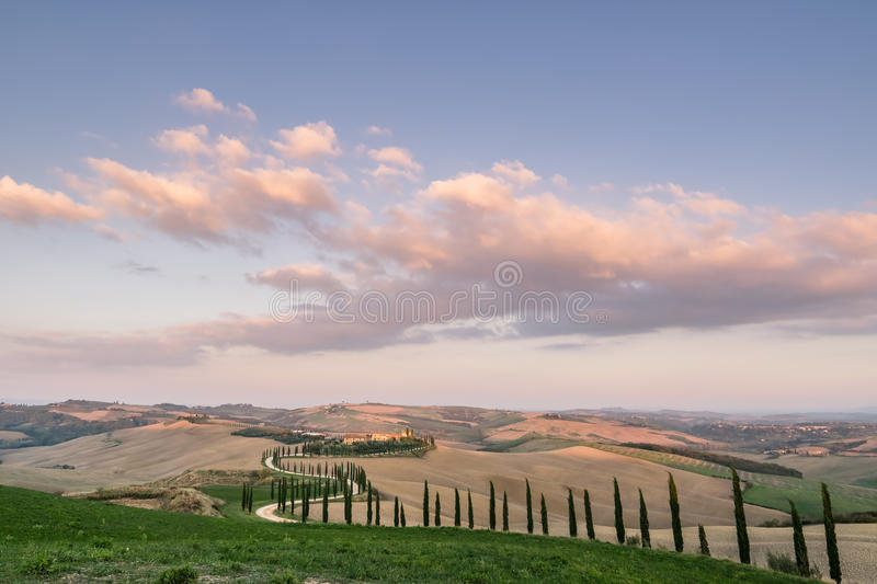 Beautiful rural landscape stock photography