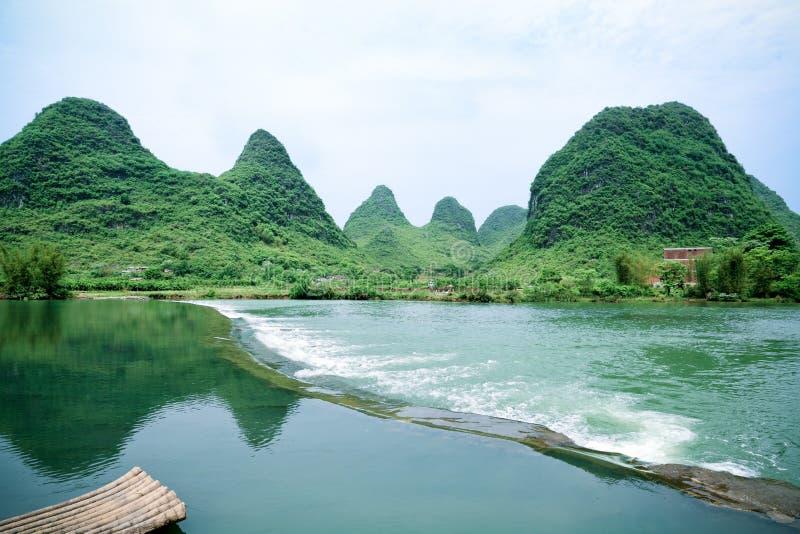 Beautiful rural scenery in yangshuo stock photography