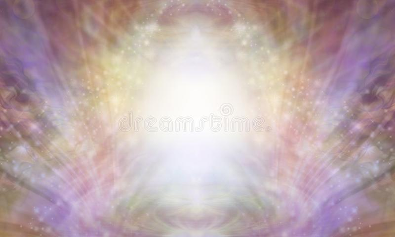 Beautiful Sacred Healing Light Background vector illustration