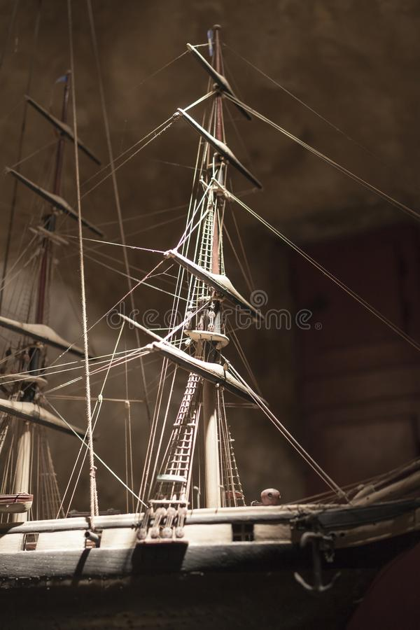 Beautiful sailing boat detail in France, Brest harbor.  royalty free stock photography