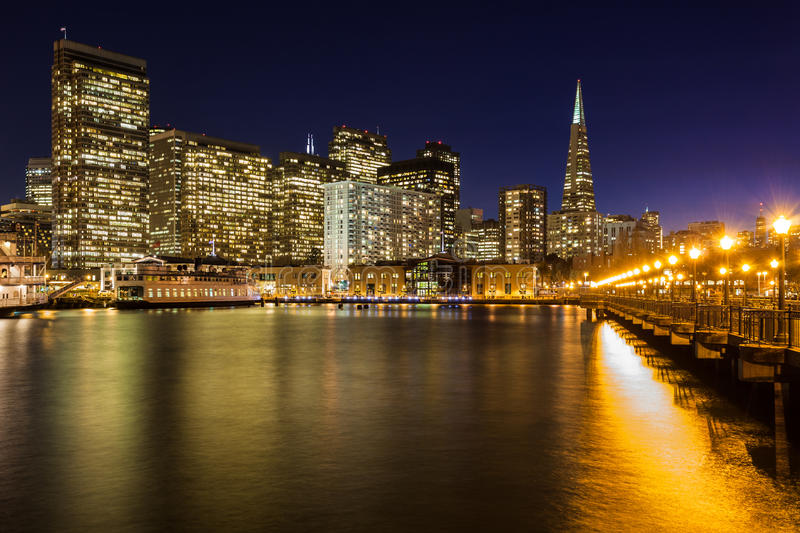 Beautiful San Francisco at Night stock photo