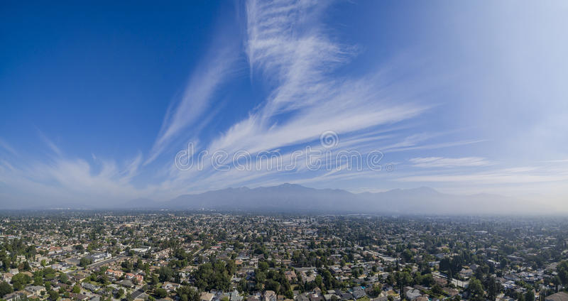 The beautiful San Gabriel Mountains, Los Angeles, U.S.A. On JUNE 20, 2016 stock images
