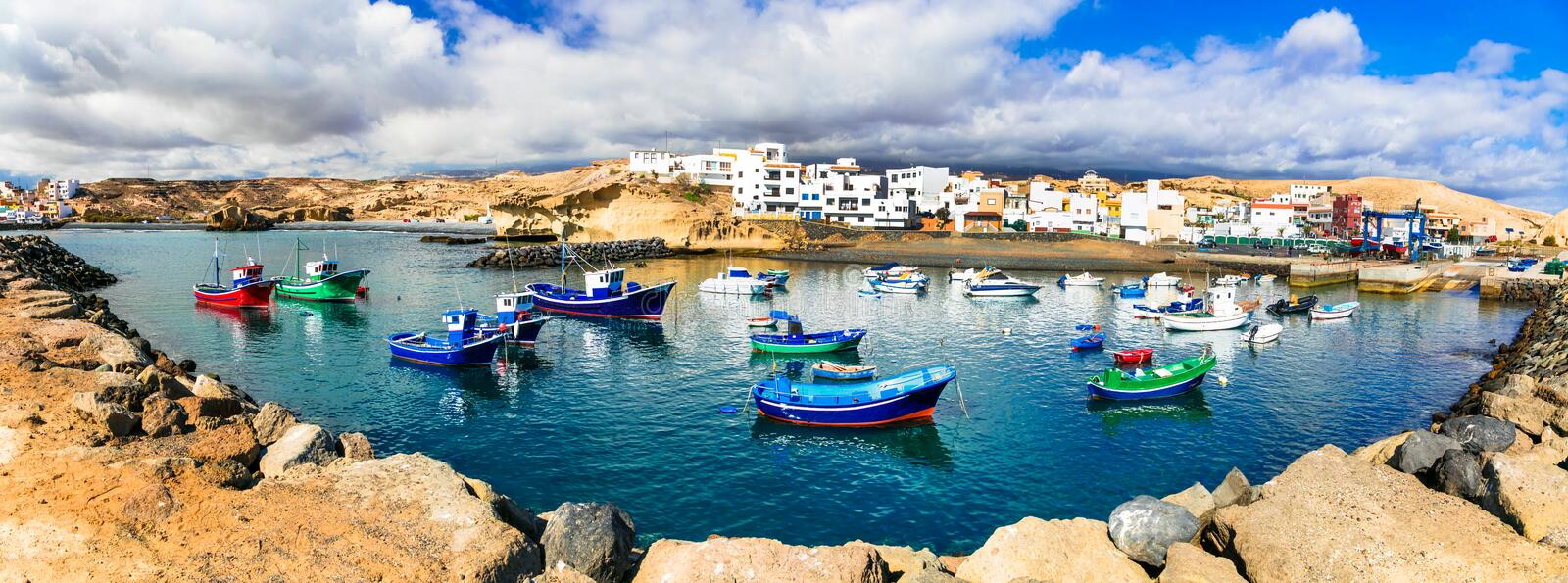 Traditional fishing village in Tenerife island - picturesque San stock photos