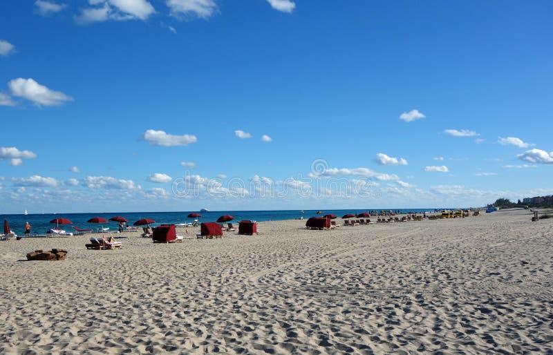 Beautiful South Florida Beach. A beautiful sand beach along the Atlantic Ocean in South Florida on Singer Island royalty free stock photo