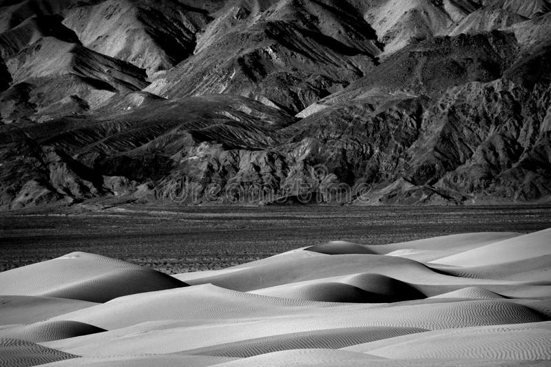 Beautiful Sand Dune Formations in Death Valley California royalty free stock images