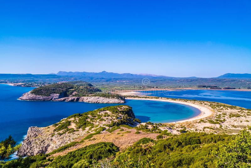 Voidokillia Beach on Peloponnese in Greece stock photography