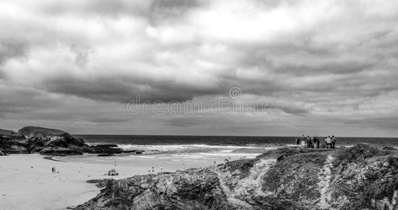 The beautiful sandy beaches in Cornwall England royalty free stock photos