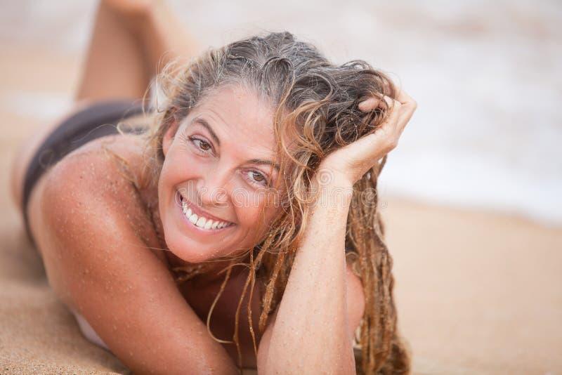 Beautiful Sandy Woman royalty free stock image