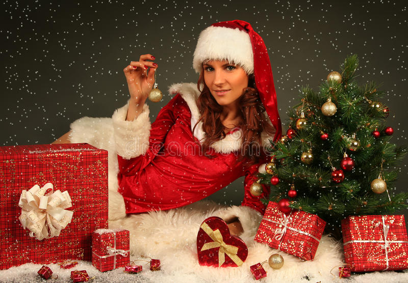 Download Beautiful Santa stock photo. Image of beauty, santa, smile - 21914466
