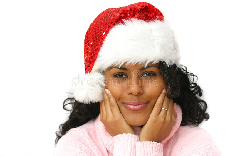 Beautiful santa stock photo